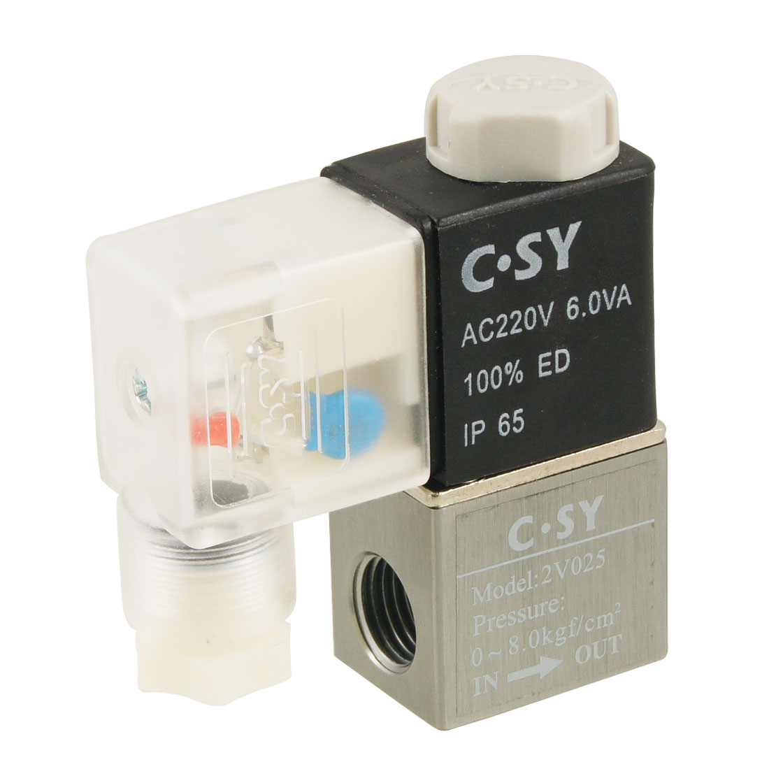 AC220V 2V025 Electromagnetic 2 Position 2 Way Solenoid Valve