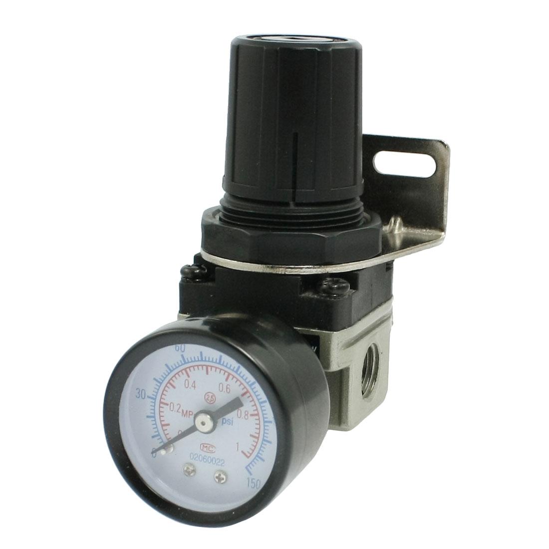 """0-1.0MPa Gauge 1/4"""" Thread Pneumatic Air Source Treatment Regulator"""