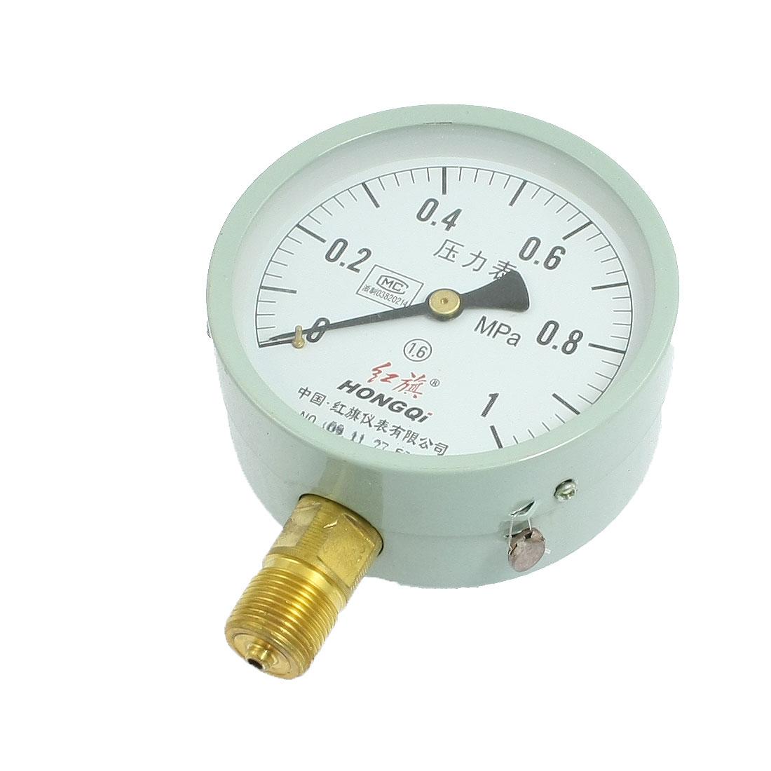 "1/2"" Thread Round Face Compressor Air Pressure Gauge 0-1.0 MPa"