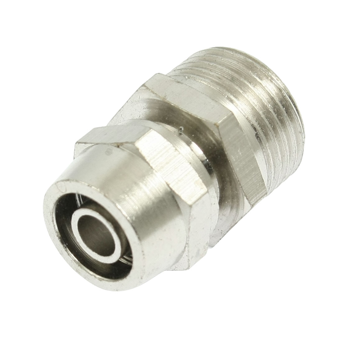 "6mm x 8mm Pipe Metal Air Quick Connector Coupler Joint PT 3/8"" Male Thread"