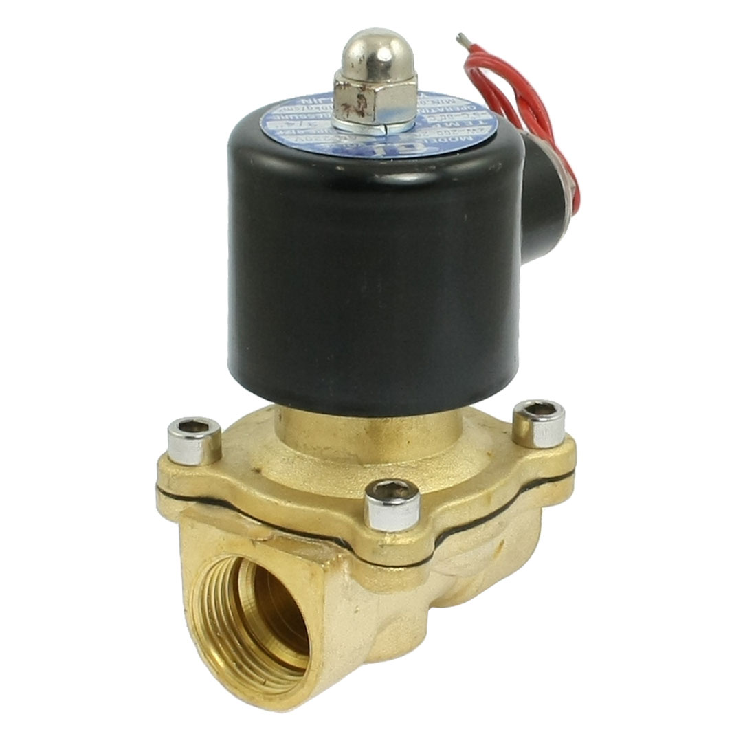 """0-1.0MPa 3/4"""" Threaded Two-position Two-way Solenoid Valve AC 220V"""