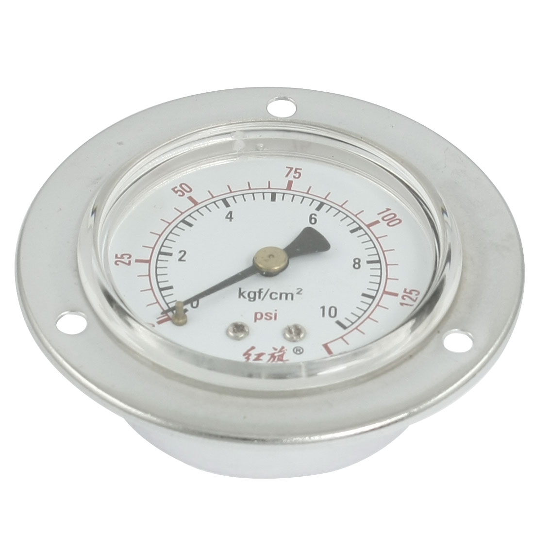 0-10Kgf/cm2 Round Face Compressor Metal Air Pressure Gauge 1/4""