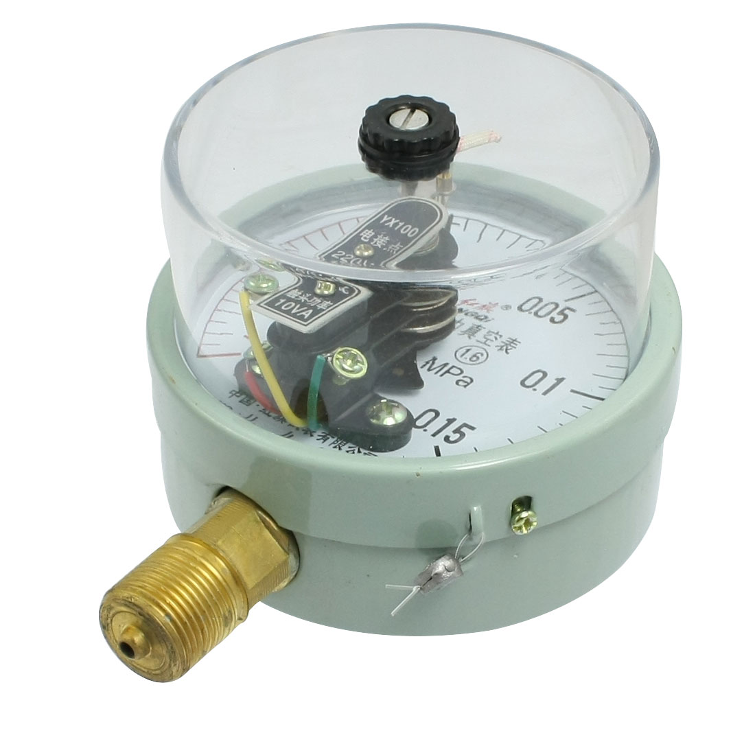 "AC 220/380V 10VA PT 1/2"" Electric Contact Pressure Vacuum Gauge -0.1-0.16MPa"