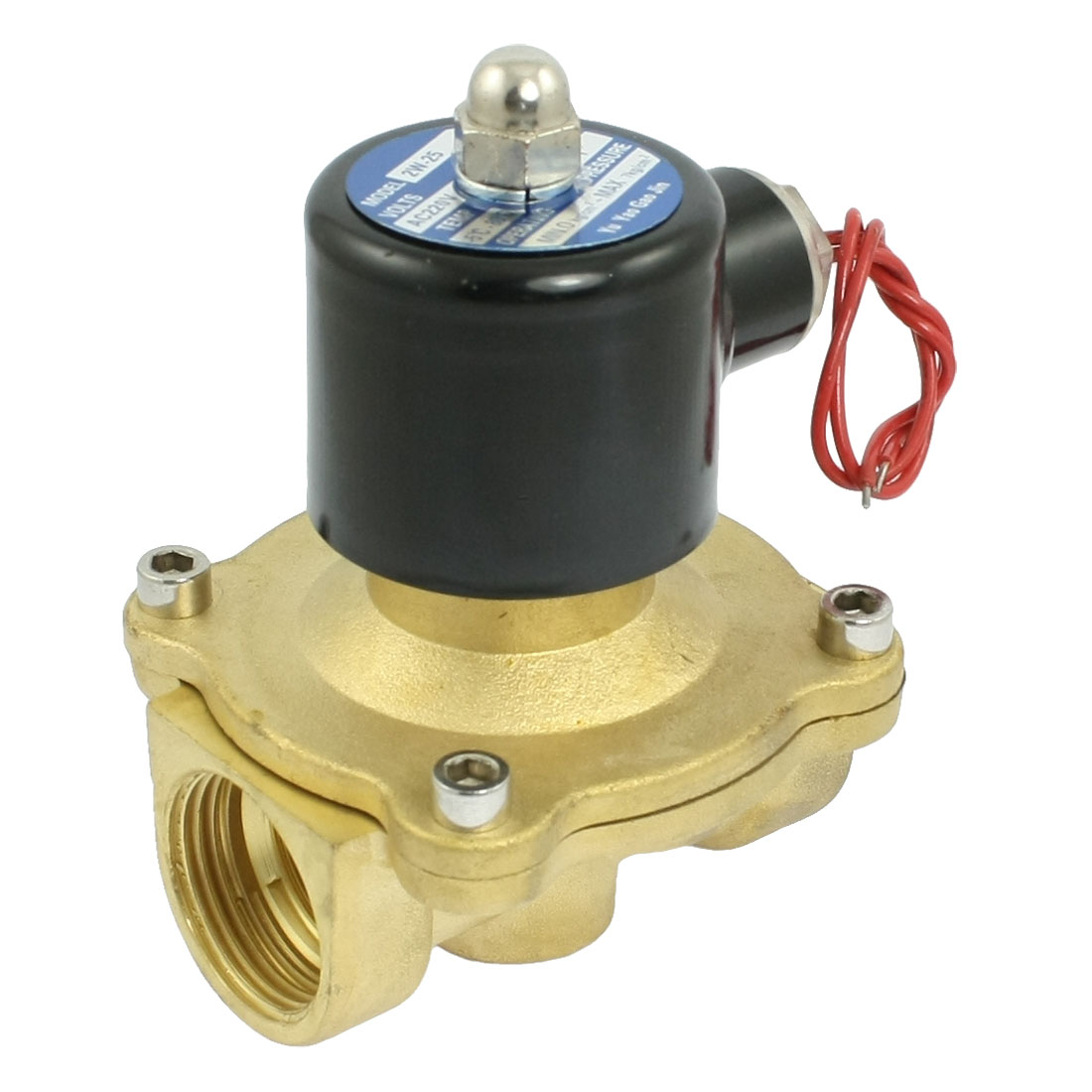 "AC 220V Volt 0-1.0MPa 2 Position 2 Way 1"" Thread Brass Solenoid Valve"