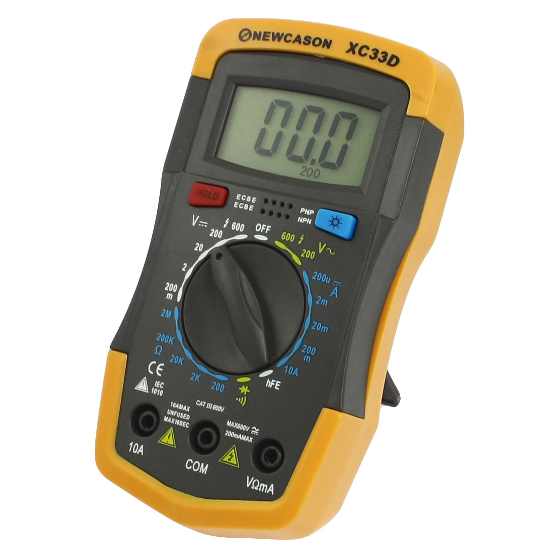 Stand Design Voltmeter Ammeter Ohmmeter Digital Multimeter Yellow Dark Gray
