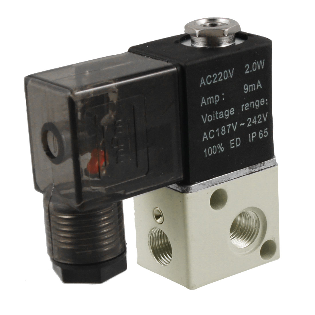 AC 220V 2.0W 3V1-06 2 Position 3 Way Magnetic Solenoid Valve