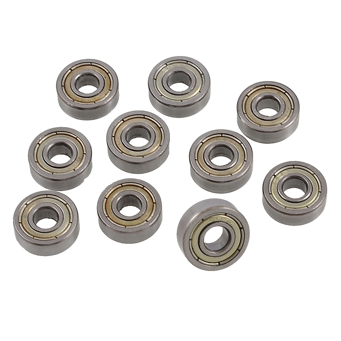 10 Pcs 605ZZ Single Row Deep Groove Ball Bearings 14mm x 5mm x 5mm