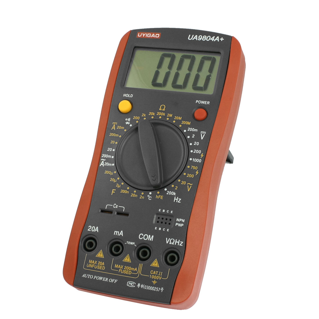 LCD Display AC DC Voltmeter Ammeter Ohmmeter Digital Multimeter