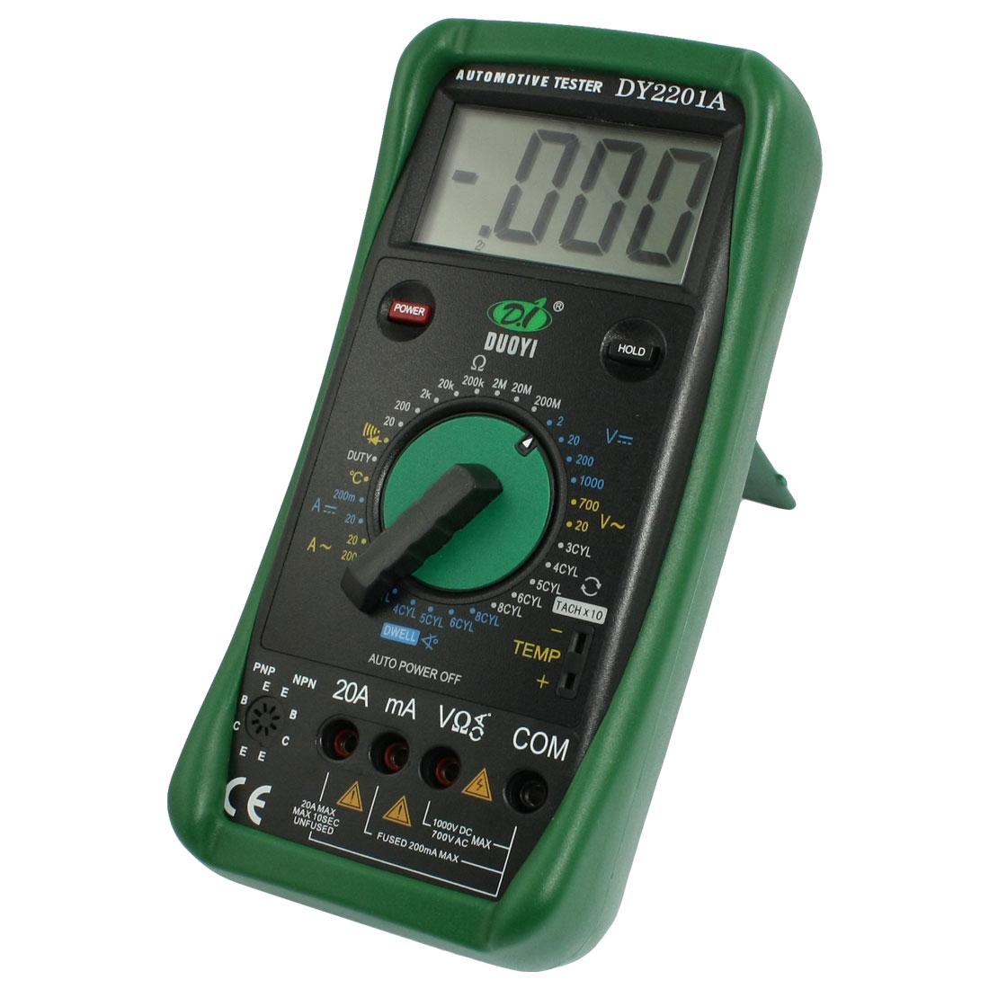 AC DC Voltmeter Ammeter Ohmmeter DY2201 Digital Multimeter