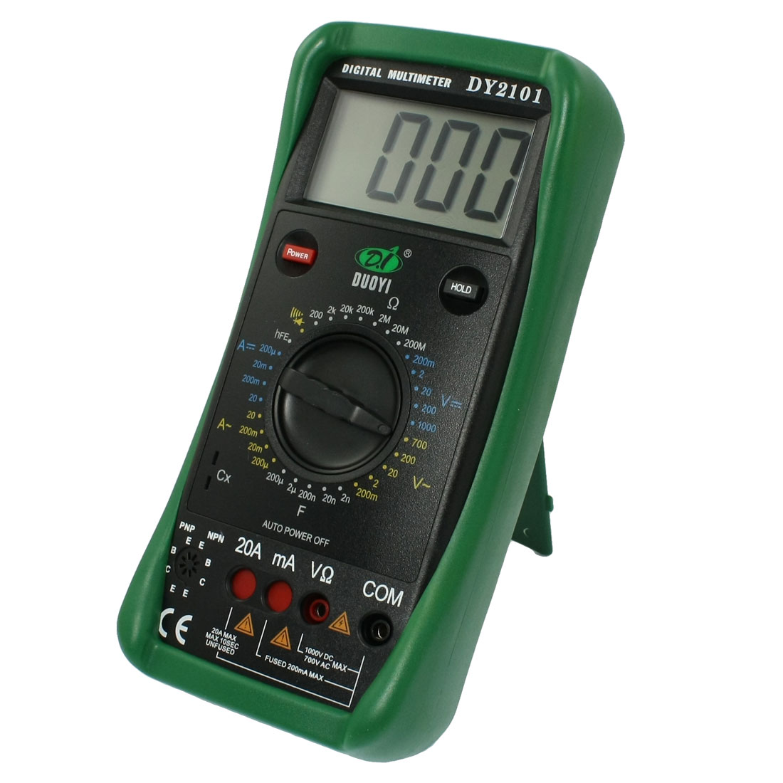 LCD Display AC DC Voltmeter Ammeter Ohmmeter DY2101 Digital Multimeter