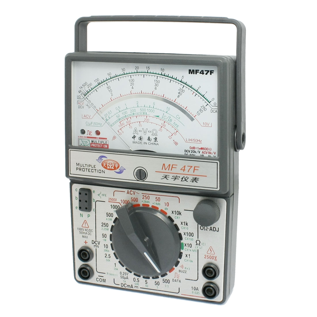 AC DC Voltmeter Ammeter Ohmmeter MF47F Multimeter Multitester