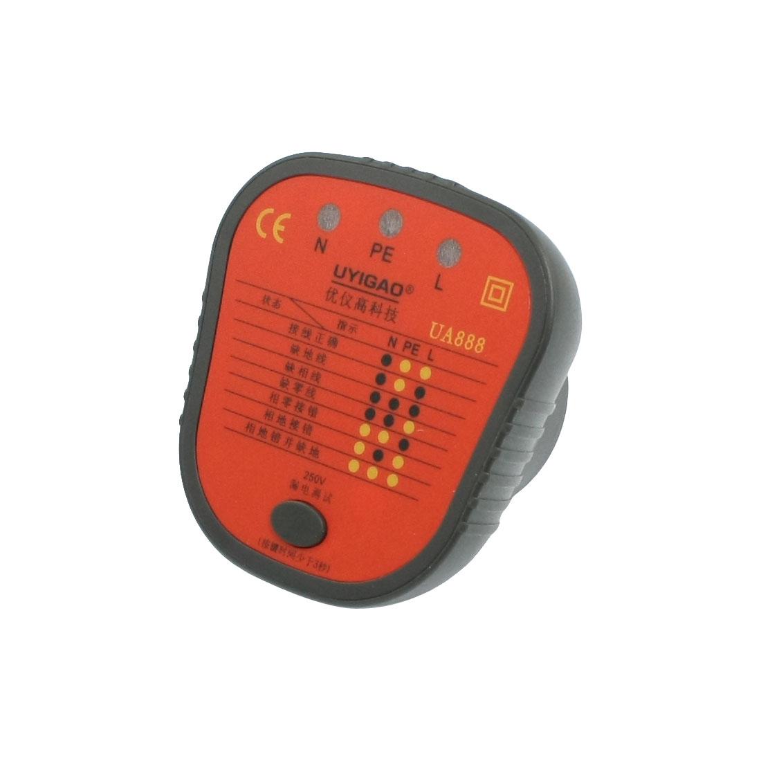 Wire Connection Check Socket Safety Tester AU Plug 220V