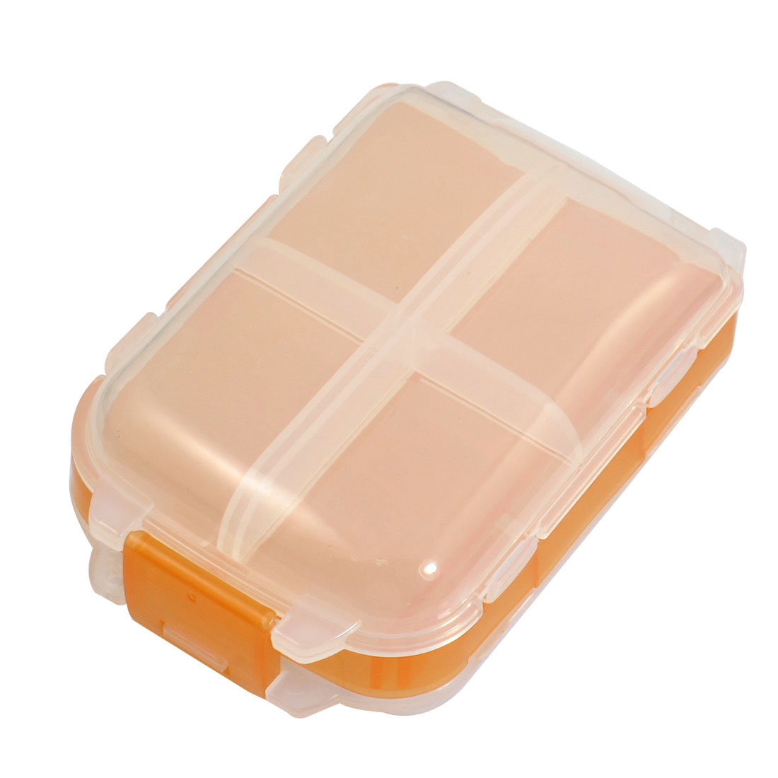 Clear White Orange 3 Layer 8 Compartments Electronic Components Case
