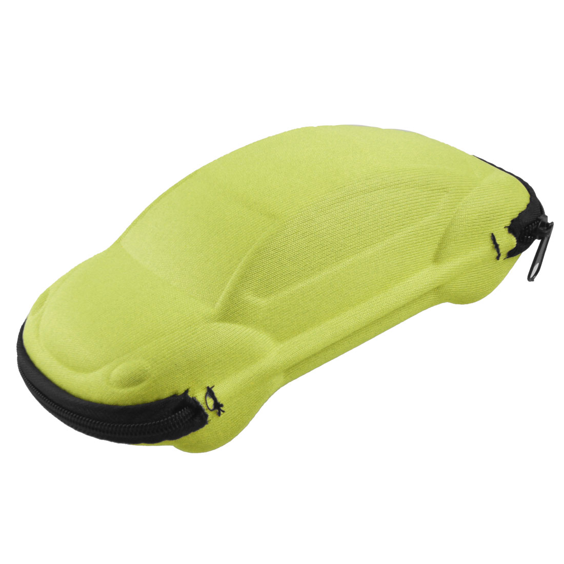 Black Yellow Car Shape Zip up Eyeglasses Sunglasses Case Box Holder