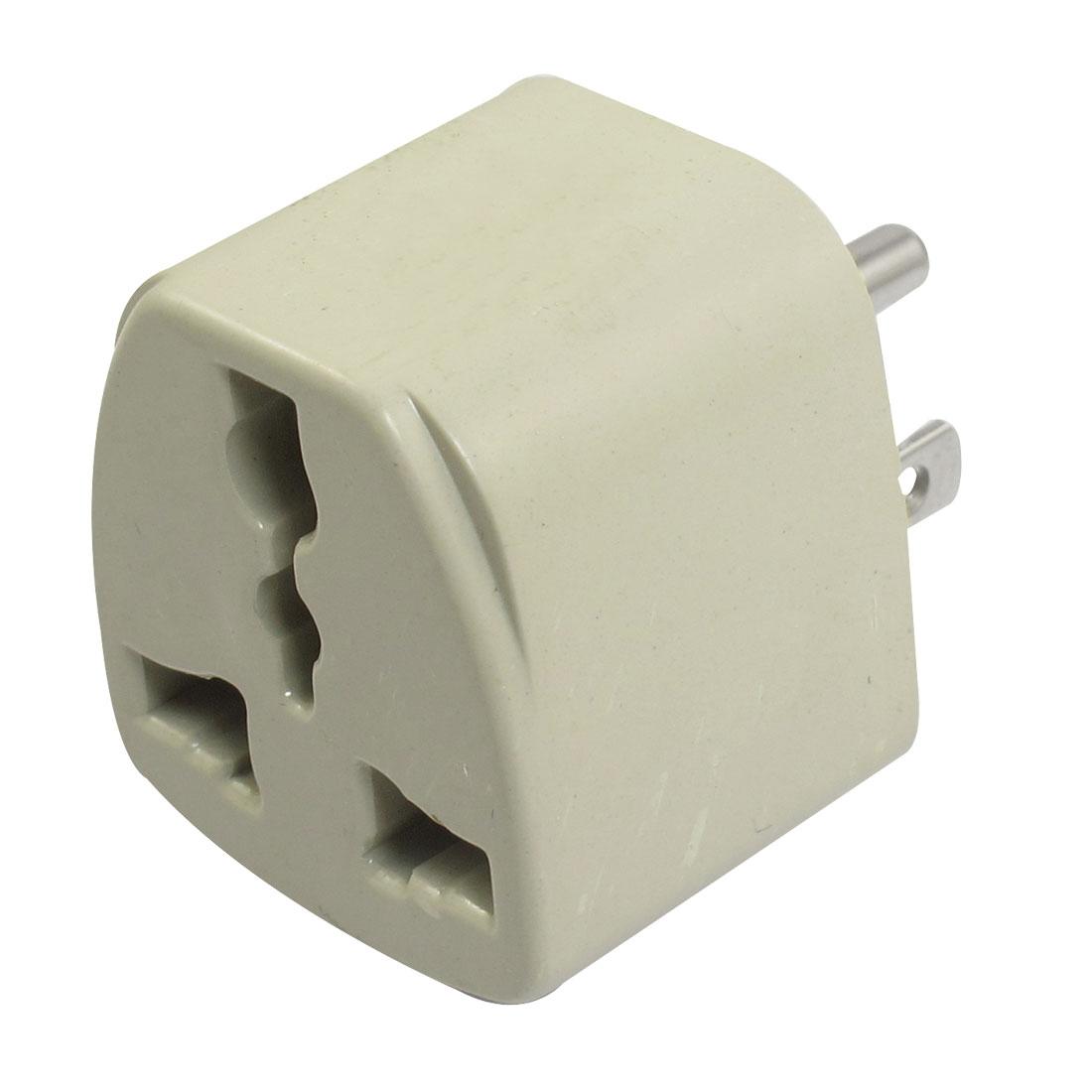 US UK Socket to US 3 Terminals Plug Travel Adapter Converter AC 250V 10A