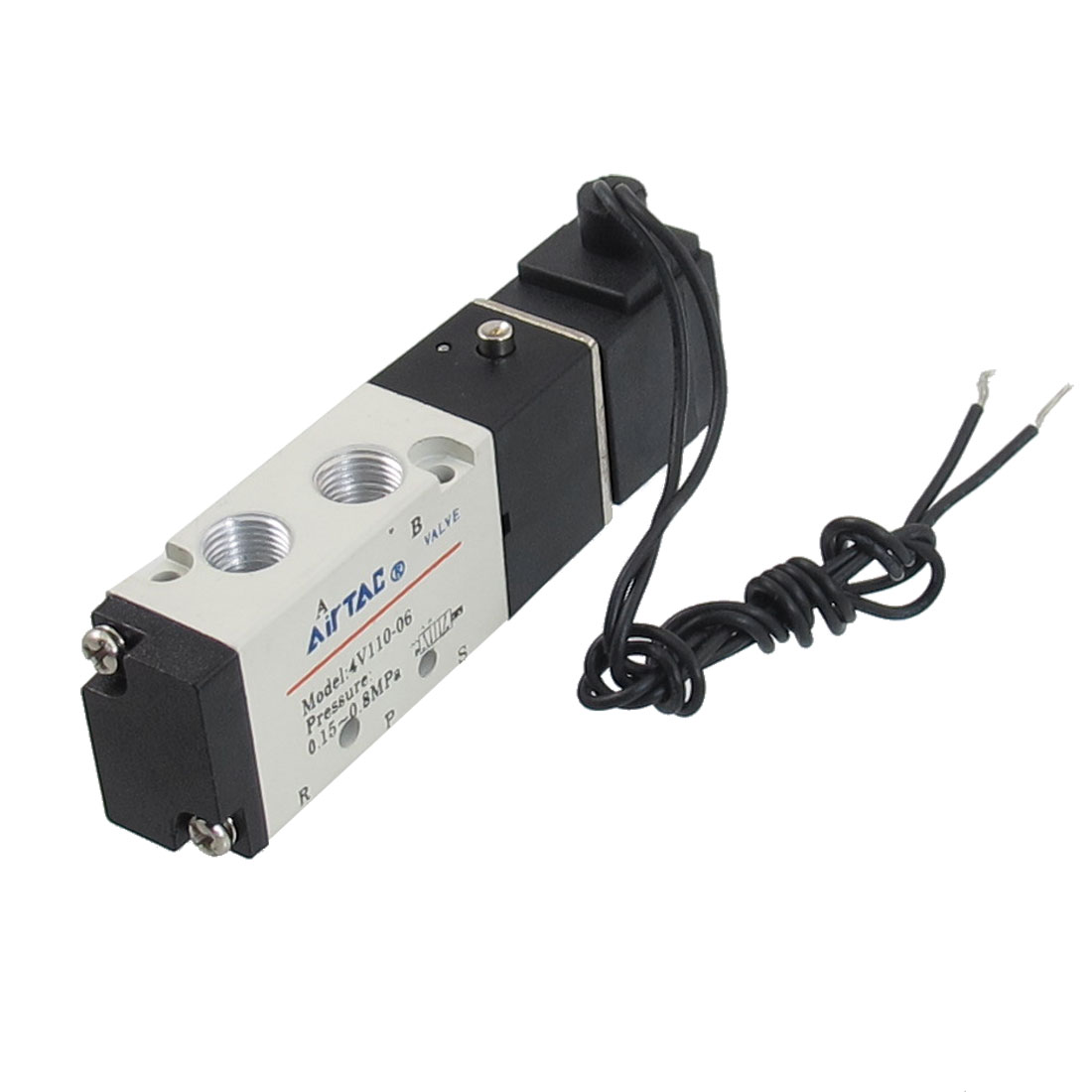4V110-06 DC24V 2 Position 5 Way Pneumatic Solenoid Valve