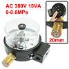 0-0.6MPa Pneumatic Air Electric Contact Pressure Gauge AC 380V 10VA Luvsf
