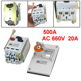 DZ162-40 AC 660V 20A 3 Pole Lockable Panel Circuit Breaker