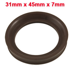 NBR Piston Rod Shaft Pneumatic Seal 45mm x 31mm x 7mm Coffee Color