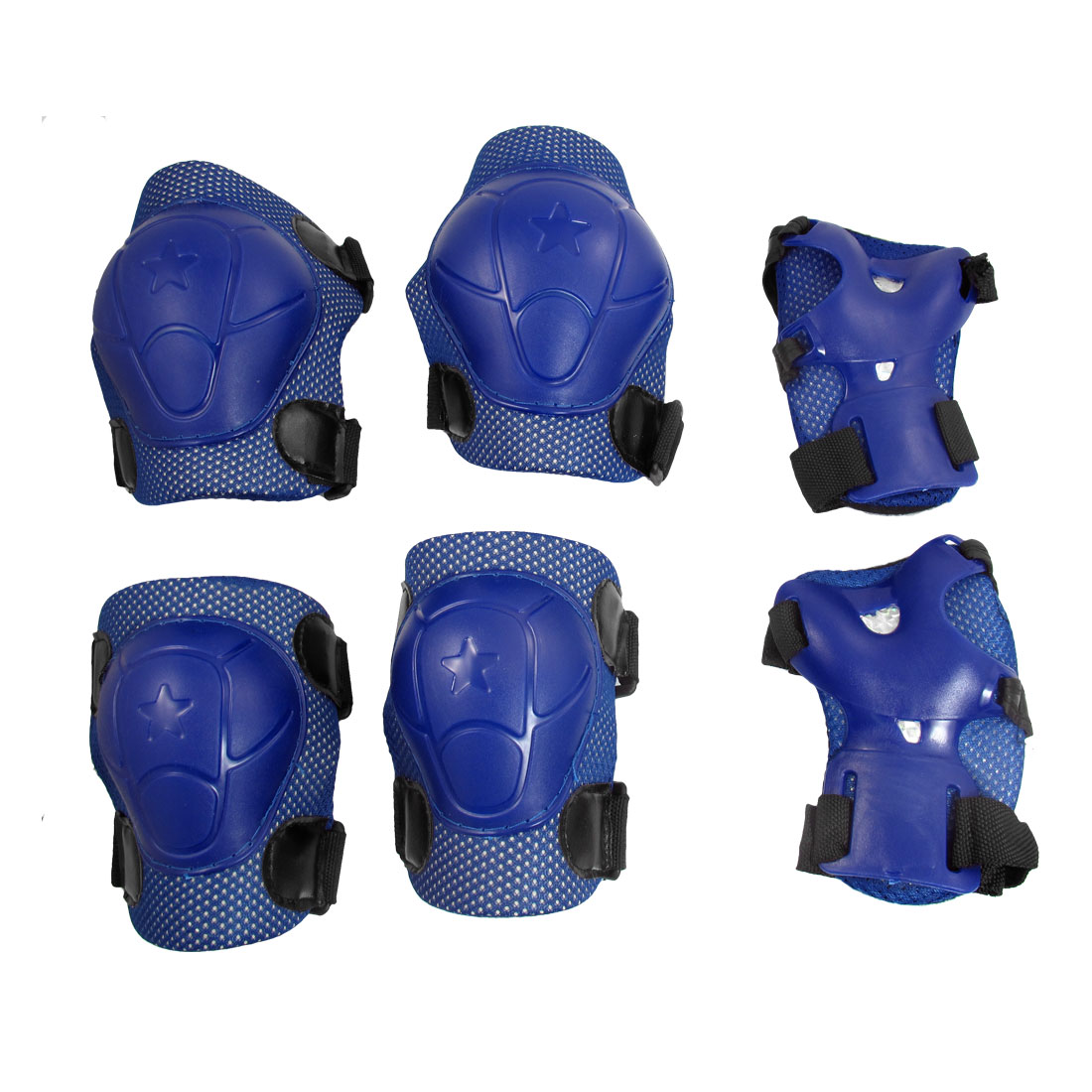 Dark Blue Skate Sports Knee Elbow Wrist Guard Support for Child