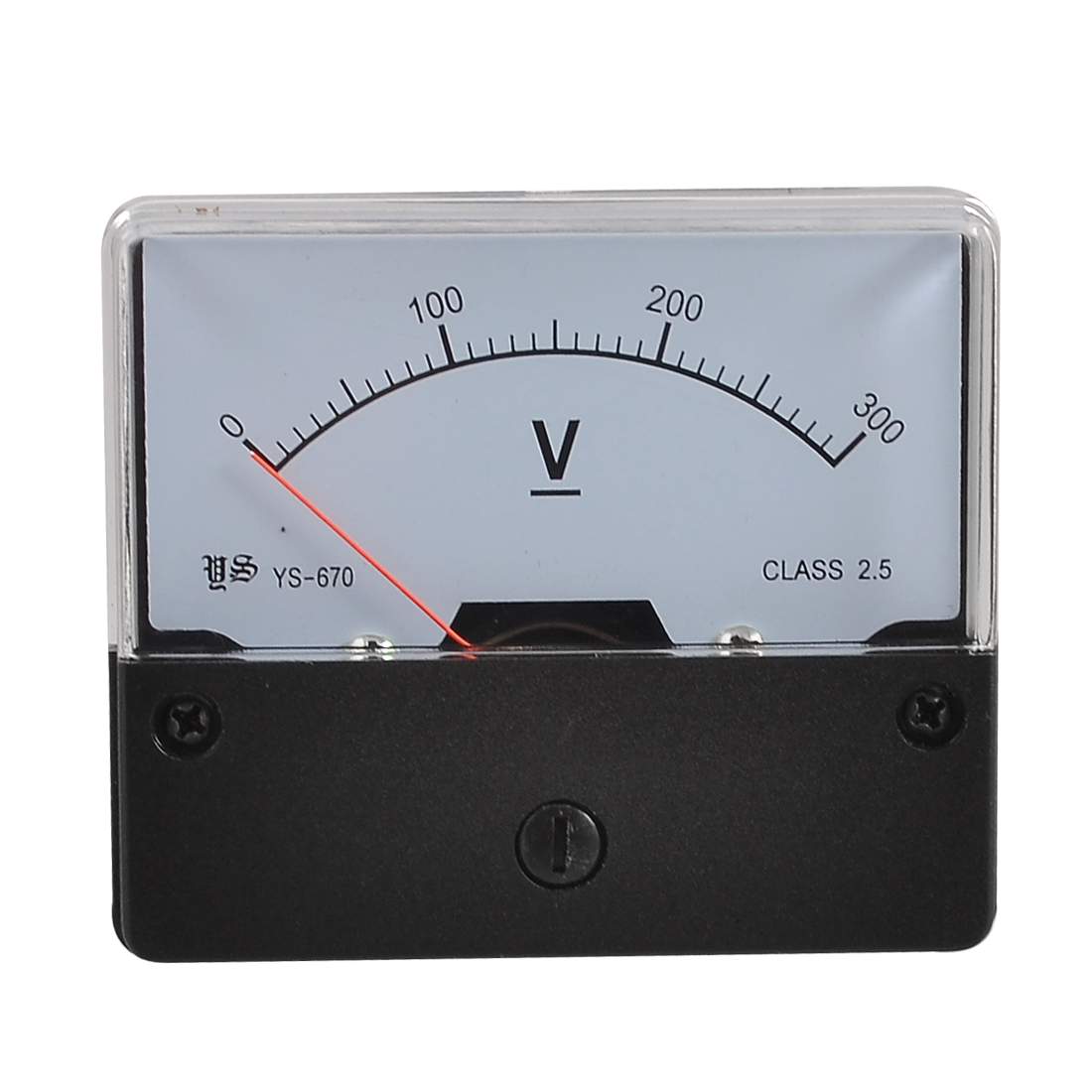 YS-670 DC 0-300V Rectangle Analog Volt Panel Meter Gauge