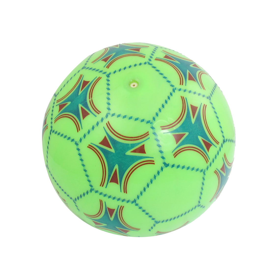 "6.3"" Dia Inflatable PVC Soccer Beach Ball Toy Green Red for Children"