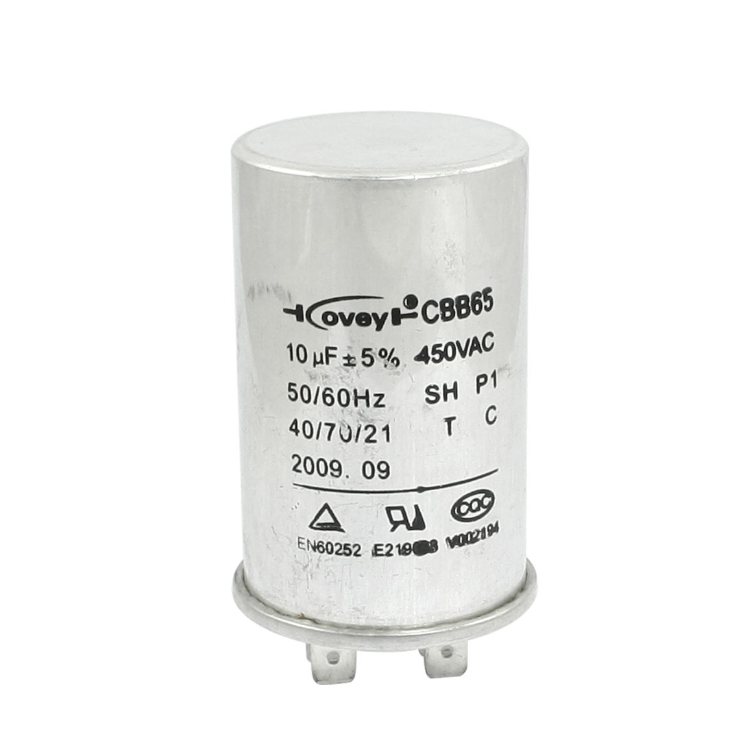 CBB65 450VAC 10uF Motor Run Metallized Polypropylene Capacitor