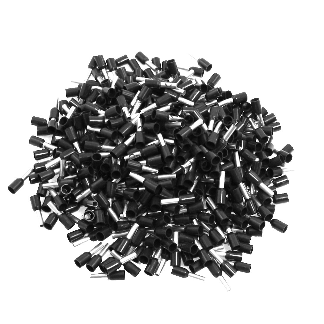 1000 Pcs 4.6mm Dia Tube Pre Insulated Terminals Wire Connector Black