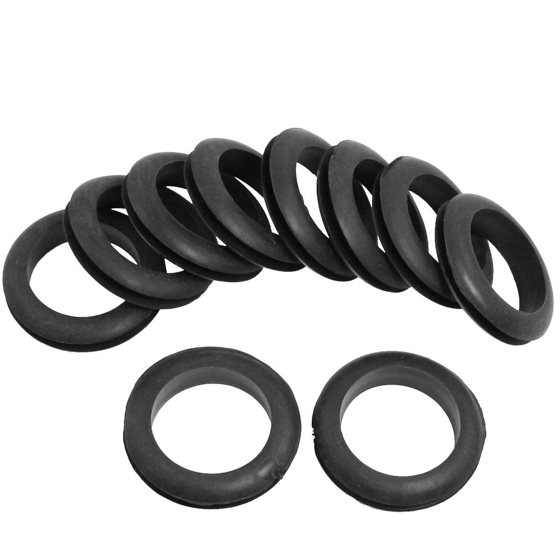 Wire Protective Black Rubber 40mm Inner Dia Double Sided Grommet