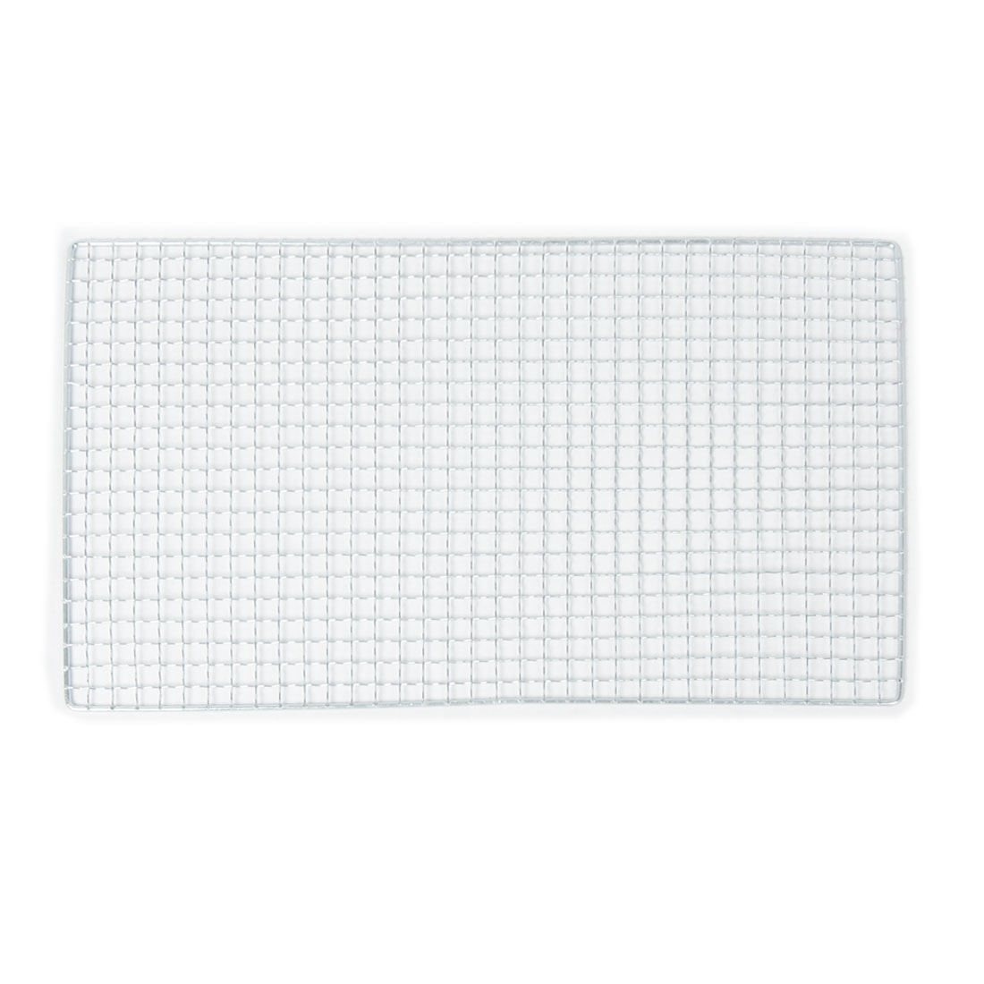 40cm x 25cm Metal Silver Tone Rectangle Shape Squares Holes Grilling Barbecue Wire Mesh