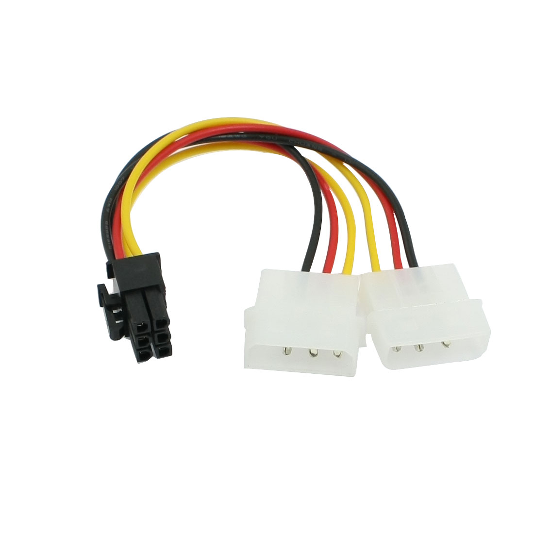 Dual IDE 3 Pins Male to ATX 5 Pin Female Splitter Power Cable Adapter