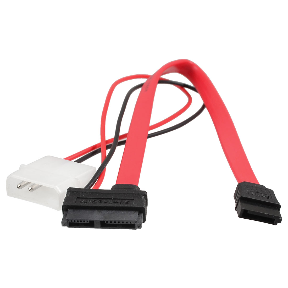 Slimline SATA 7+6P to SATA 7 Pin IDE 2-pin Power Cable Cord
