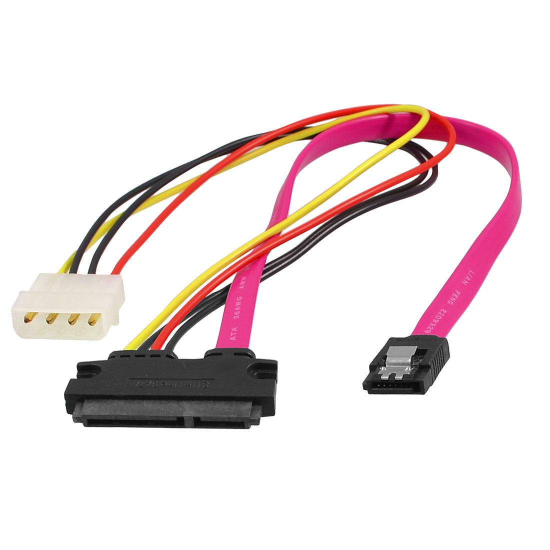 Slimline SATA 7+15P to SATA 7-pin IDE 4 Pin Splitter Power Cable