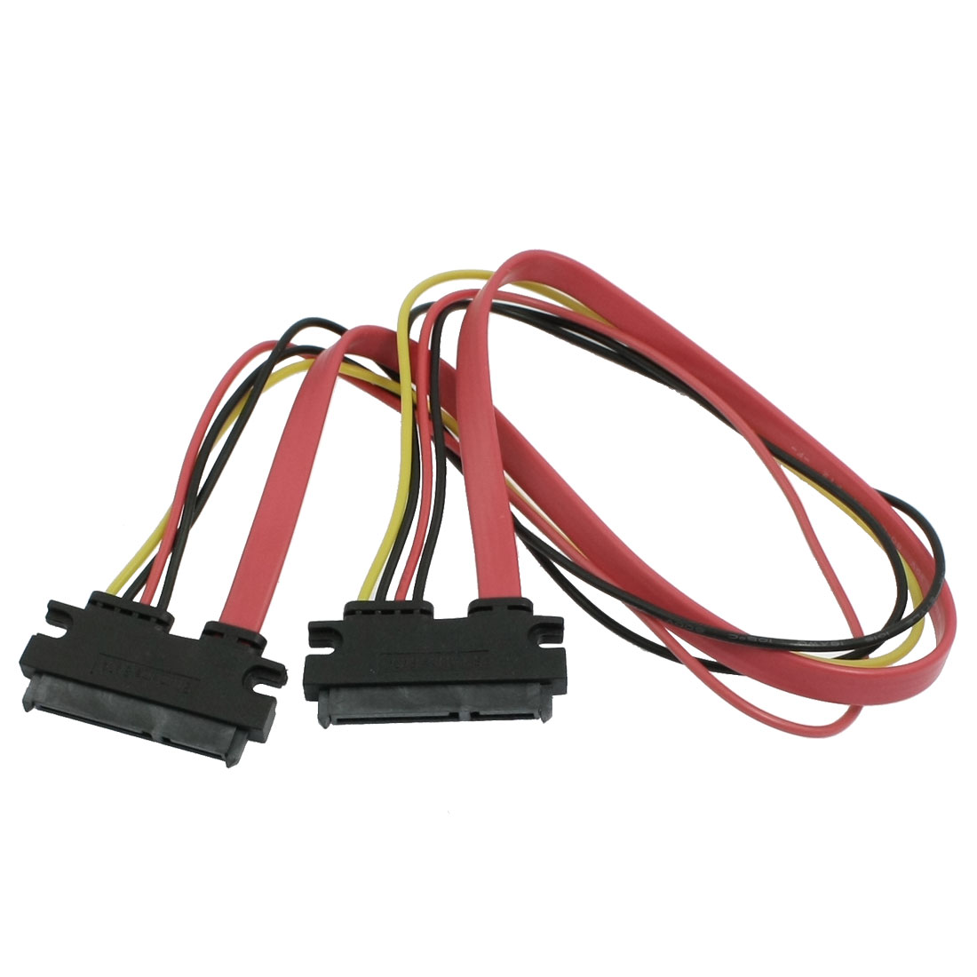 Computer PC 20cm Length 7+15 SATA Female to Female Power Cable Adapter