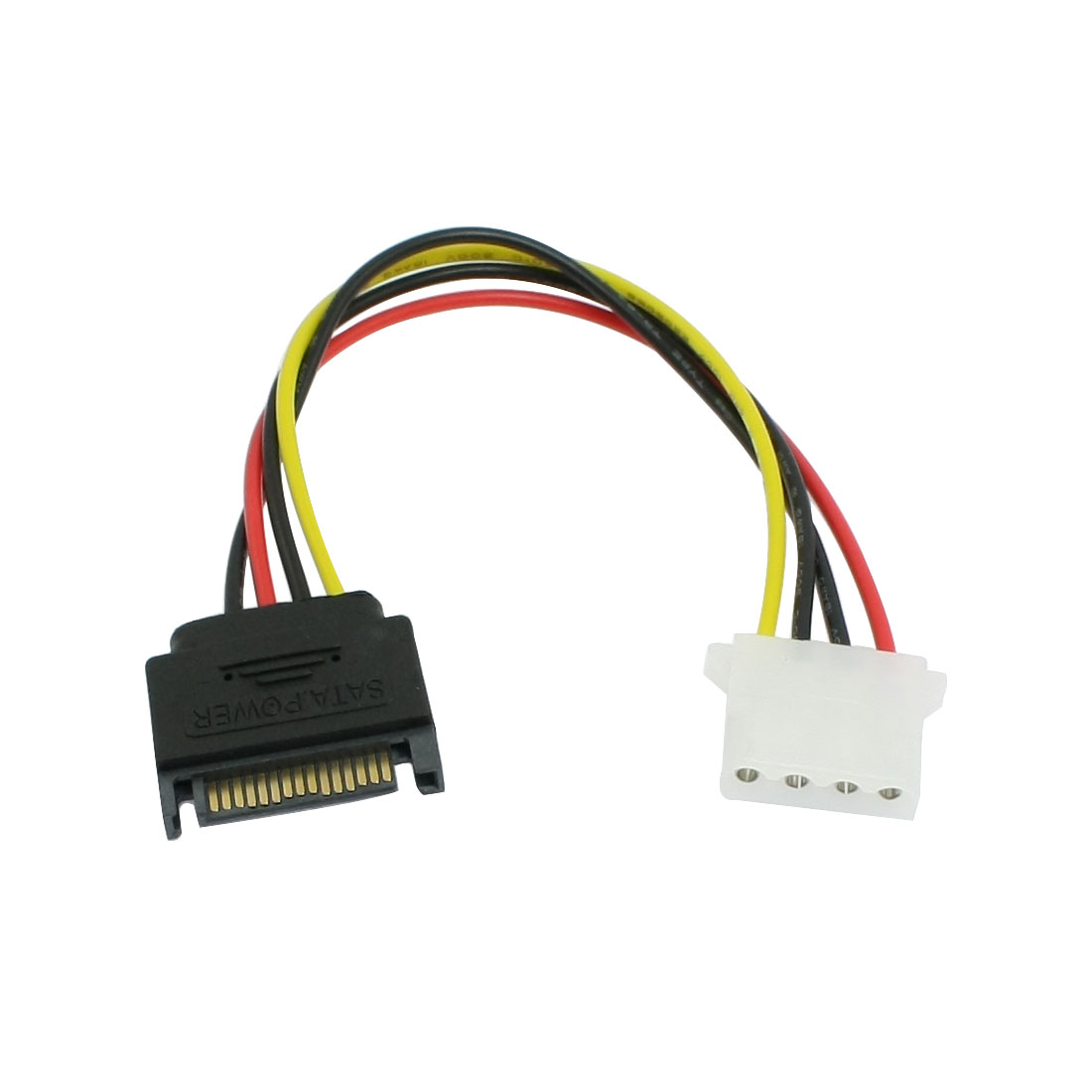 PC IDE 4 Pin Male to SATA 15 Pins Female Power Cable Adapter