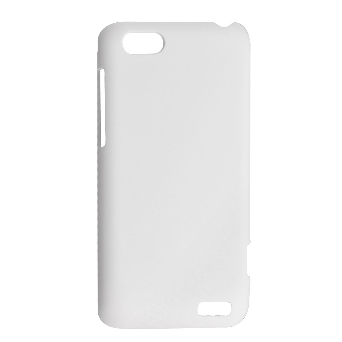 White Rubberized Hard Plastic Back Case Shell for HTC One V