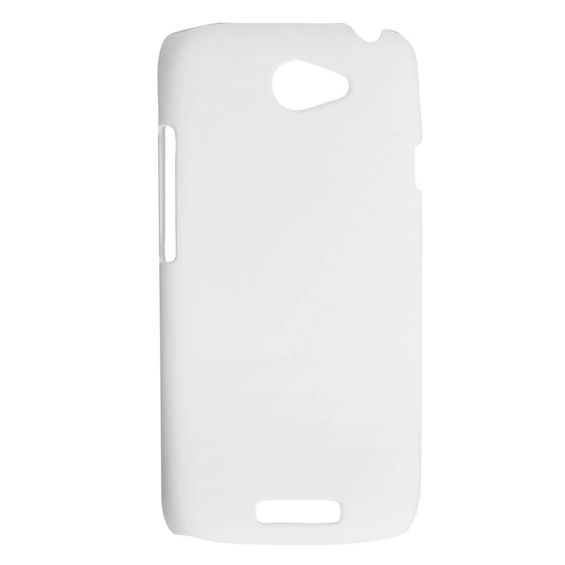 White Rubberized Hard Plastic Back Case Shell for HTC One S Z520e