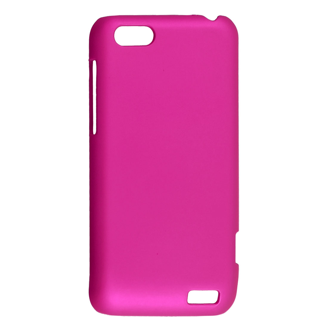 Magenta Rubberized Hard Plastic Back Case Shell for HTC One V