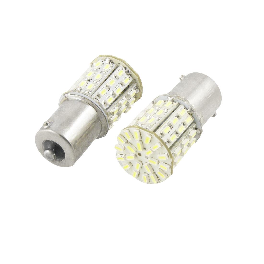 2 Pcs 1156 63 White LED 1210 SMD Car Tail Packing Brake Light Bulb