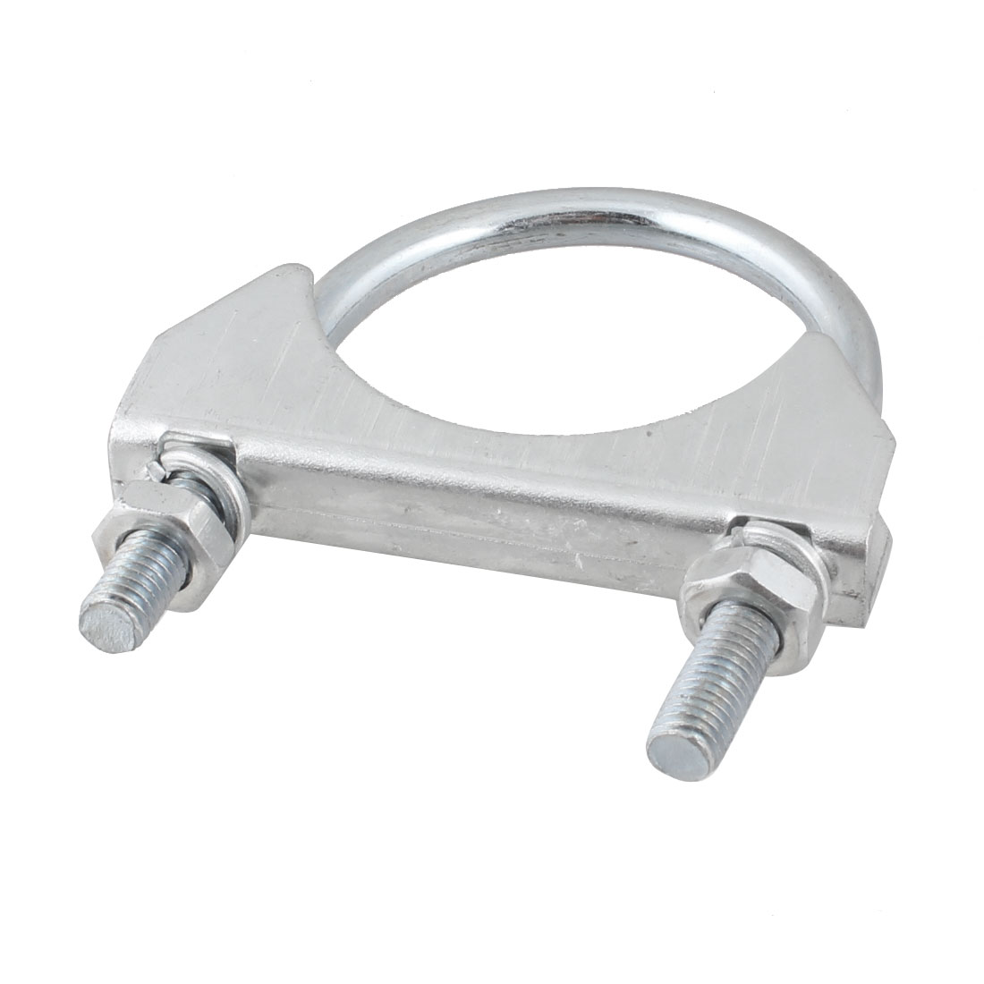 Silver Tone Metal 8mm Thread Dia U-Bolt Boat Toggle Clamp for Pipe
