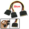 PC SATA 15 Pin Male to Dual Female Hard Drive Splitter Power Cable Converter