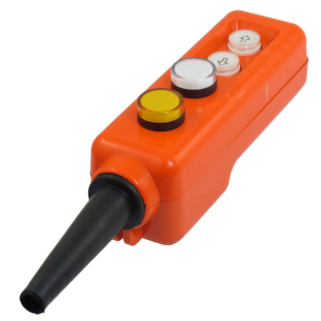 Hoist Yellow White LED Indicator Up Down Hand Operate Push Button Switch AC 220V