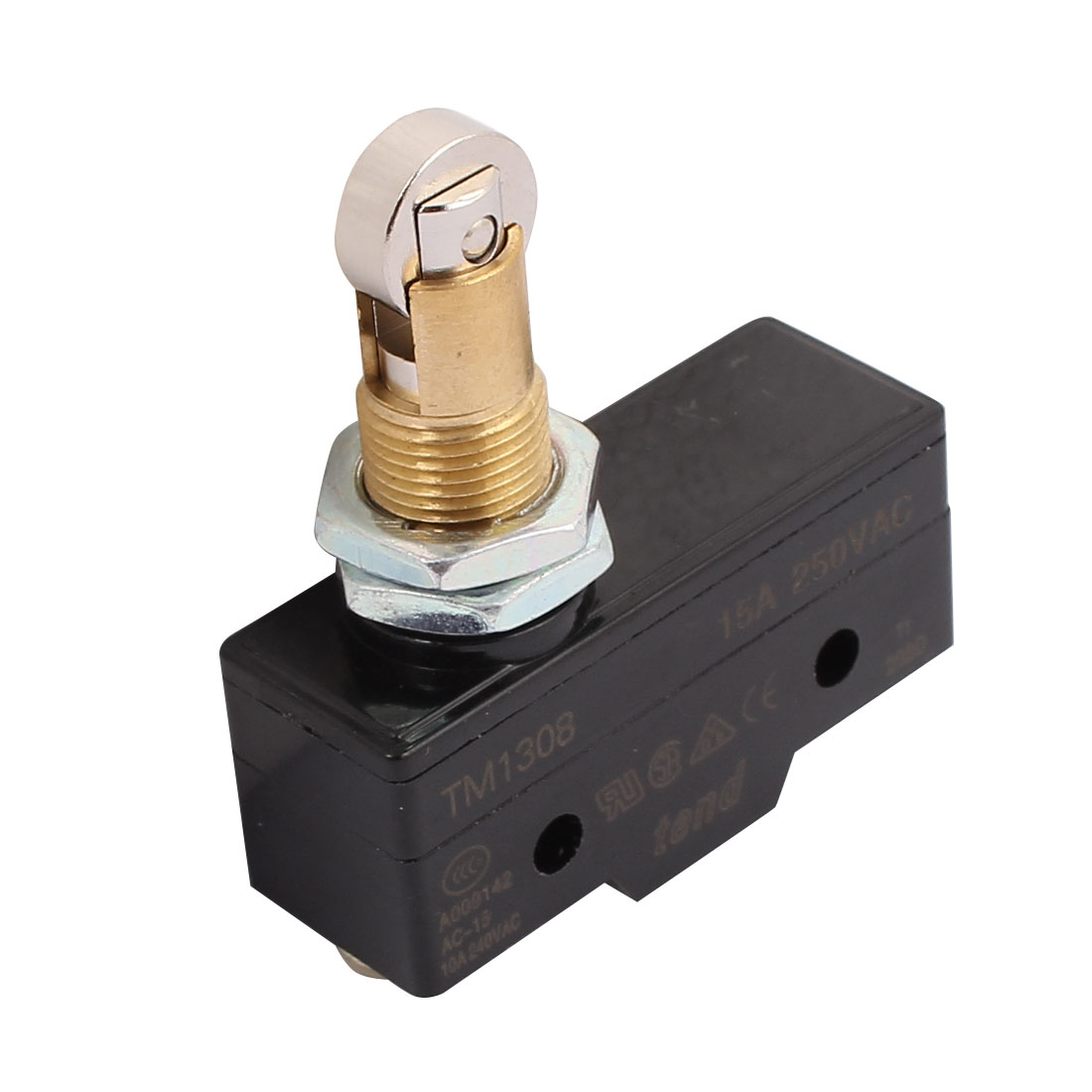 TM-1308 Parallel Roller Plunger Momentary Limit Micro Switch 250V 15A