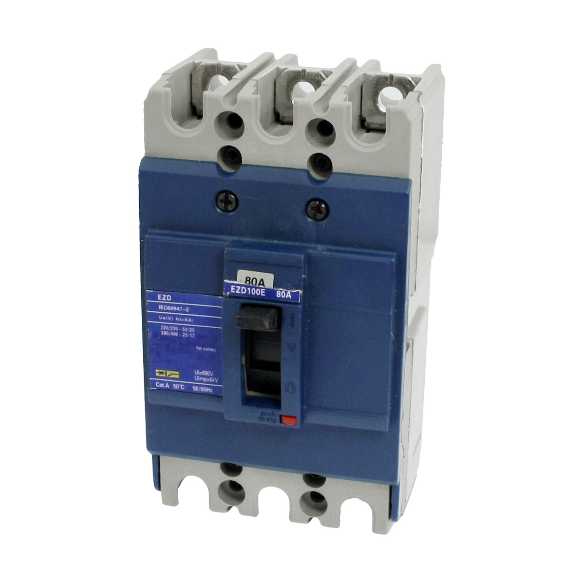 80A 690V Overload Protection Circuit Breaker 3 Pole EZD-100E