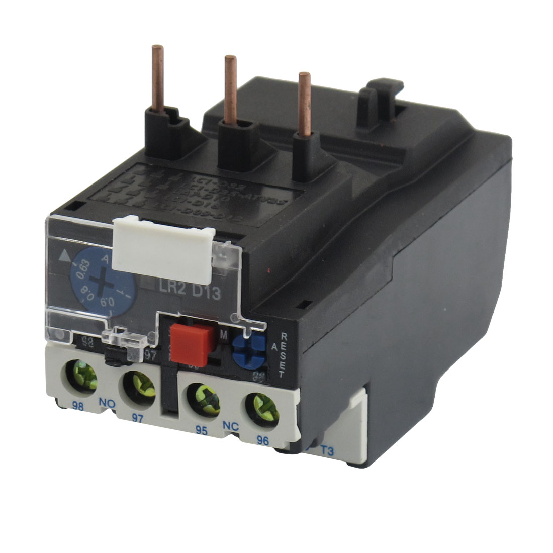 JR28-13 1A 3 Pole 0.63-1A Adjustable Motor Protective Thermal Overload Relays