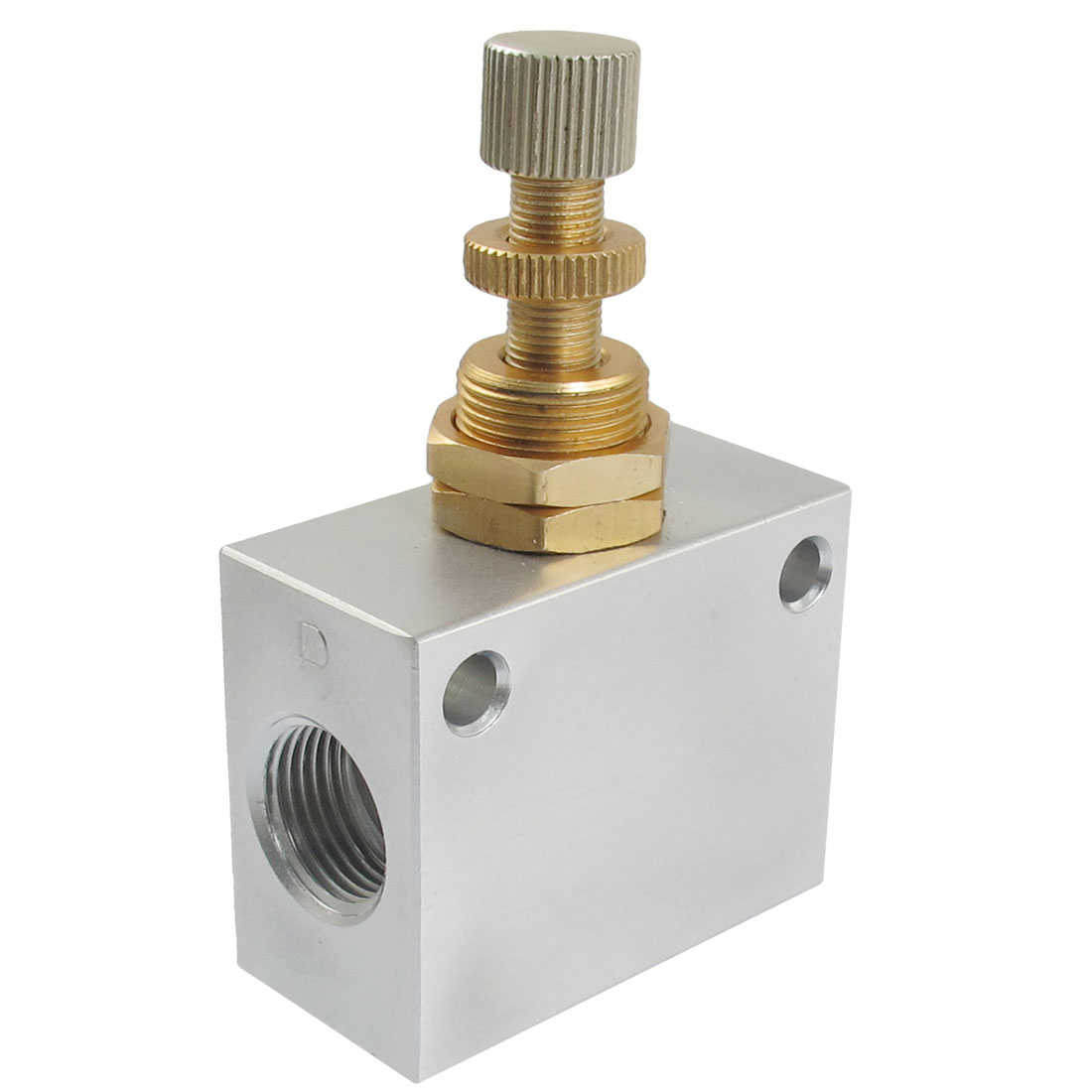 "G3/8"" Pipe Bore One Way Air Regulator Flow Speed Valve KLA-10"