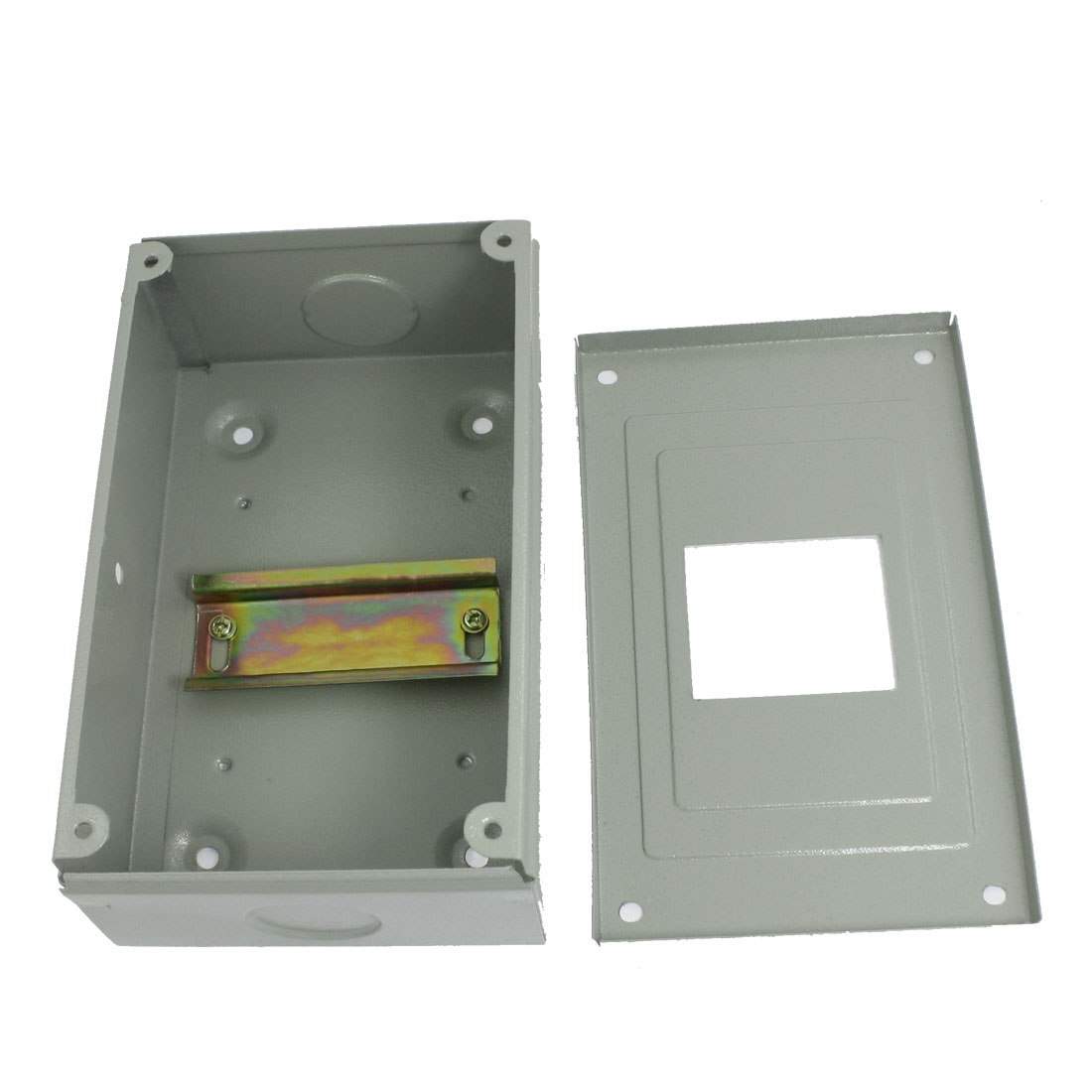 Rectangular Gray Metal Power Supply Distribution Box Guard Cover