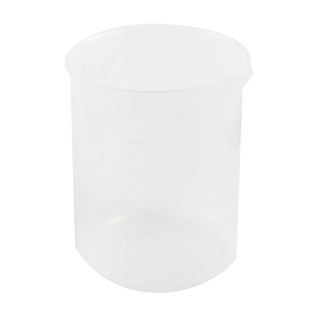 Lab Kitchen Clear White Plastic 100mL Measuring Cup Beaker