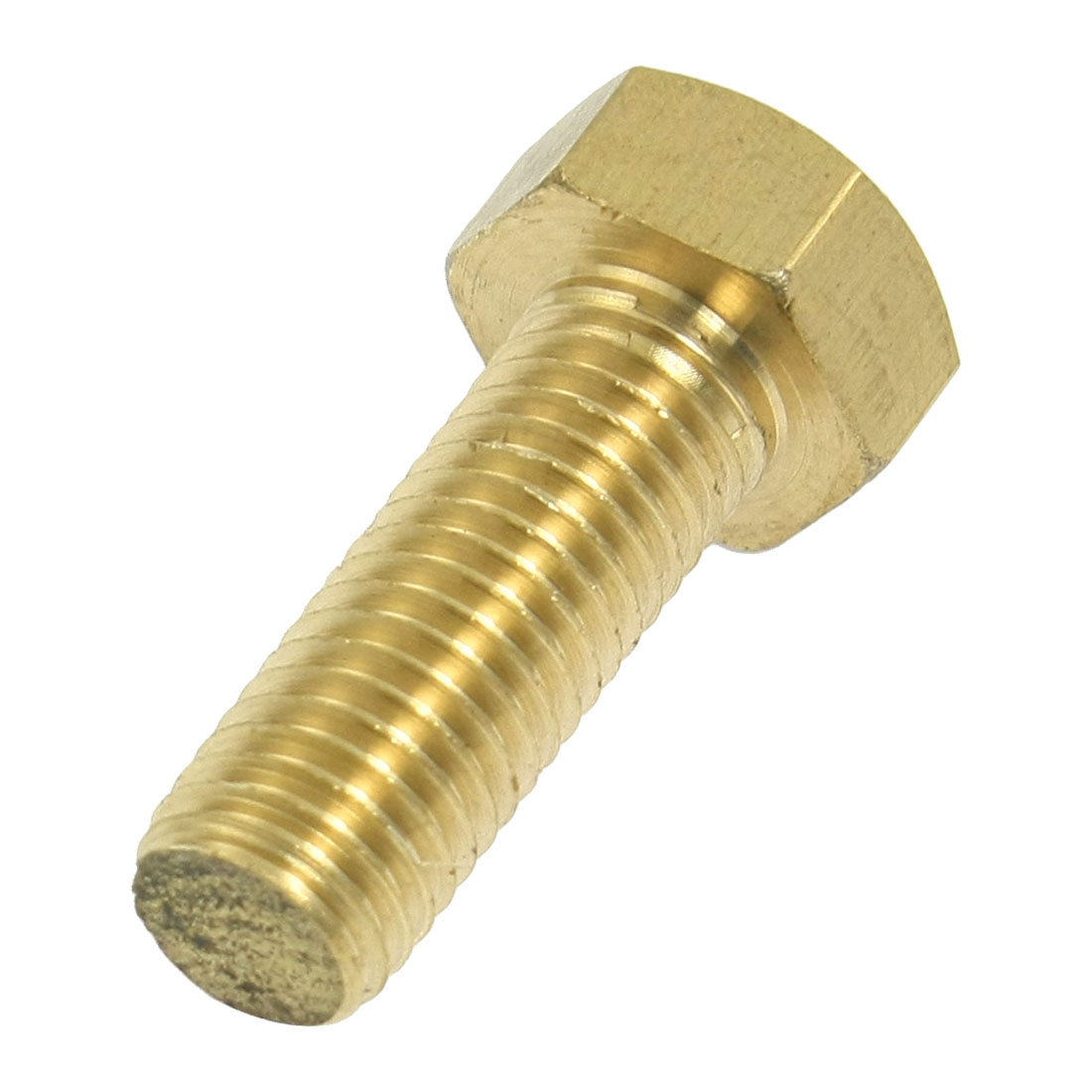 24mm Hex Cap 16mm x 40mm Thread Bolts Flat Tip Brass Screws