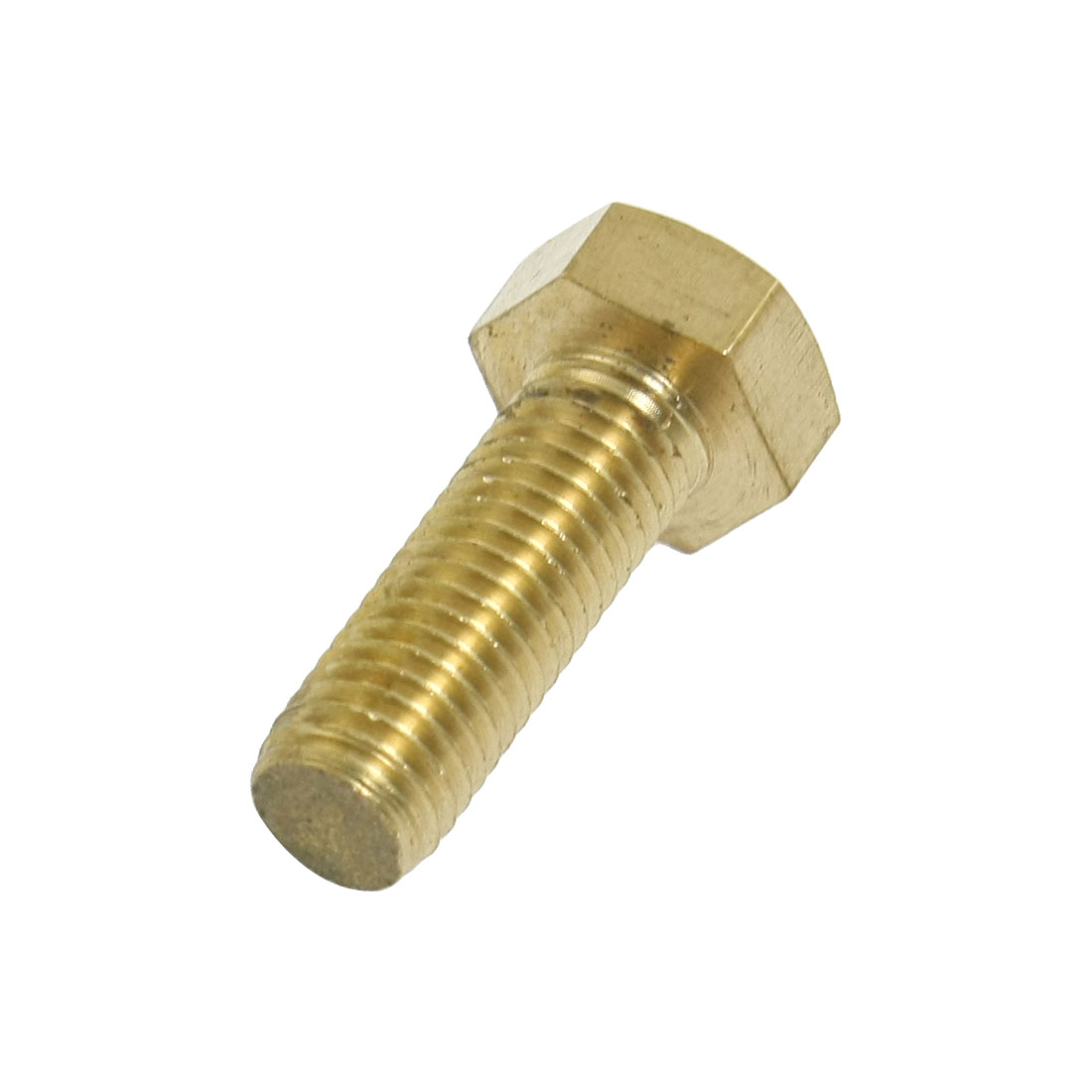 Flat Tip Brass Hex Cap Screw Bolts Fastener 12mm x 35mm